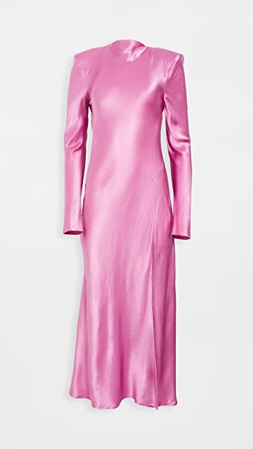 Lucie Long-Sleeve Midi Dress
