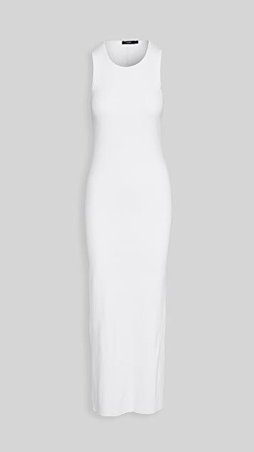 Rib Longerline Tank Dress