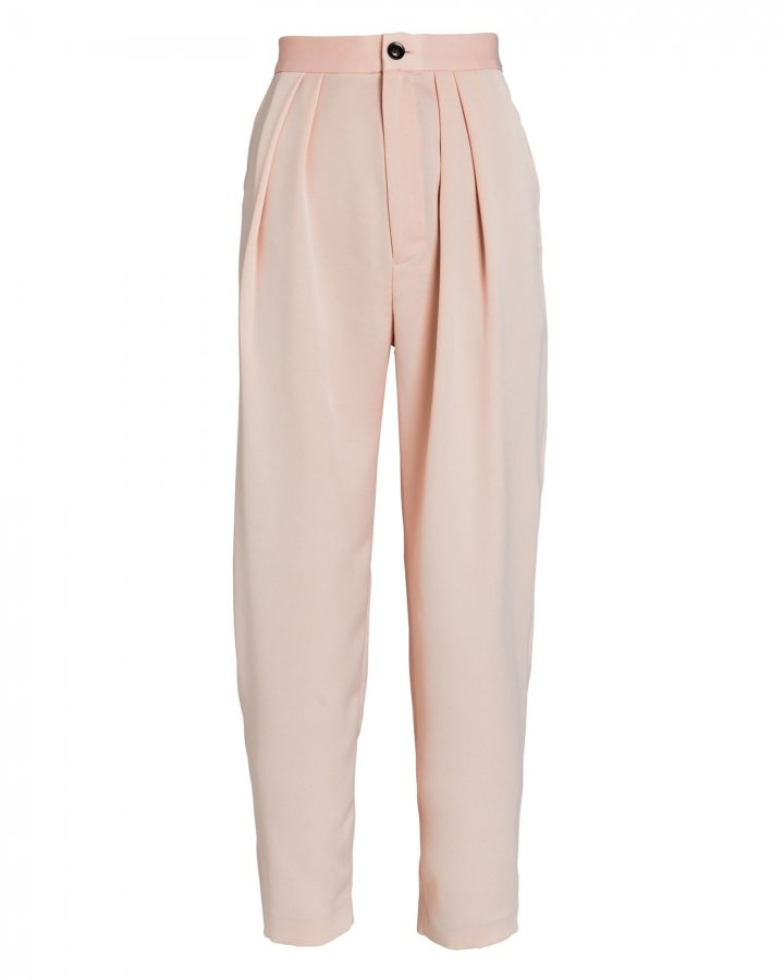 Riley Pleated Crepe Trousers