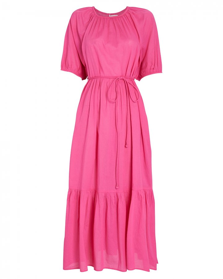 Simone Tiered Cotton Midi Dress