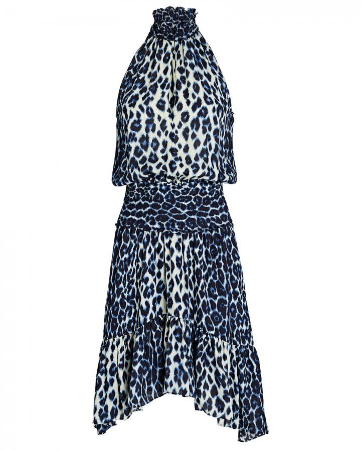 Cody Silk Leopard Mini Dress