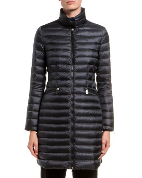Sable Channel-Quilt Puffer Coat