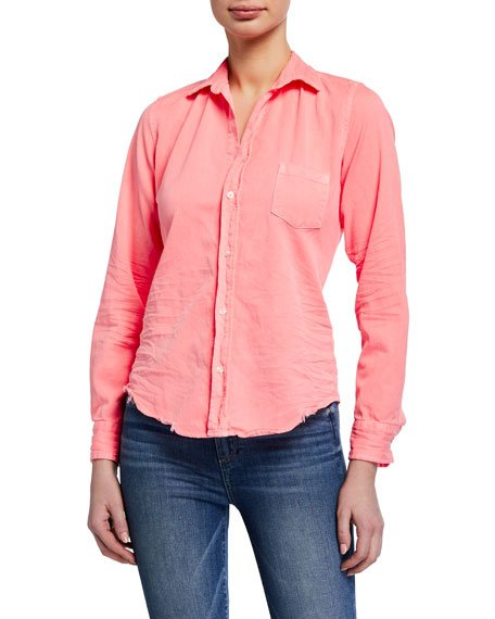 Long-Sleeve Button-Down Cotton Shirt
