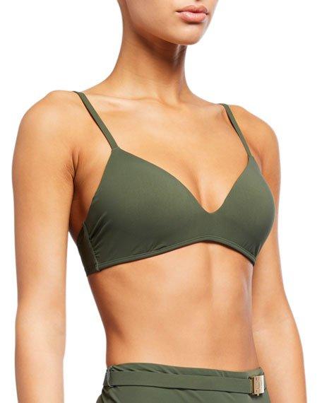 Solid Triangle Bikini Top