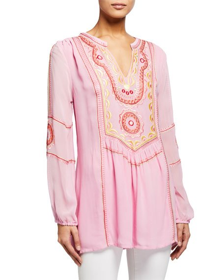 Plus Size Lauren Embroidered Tunic