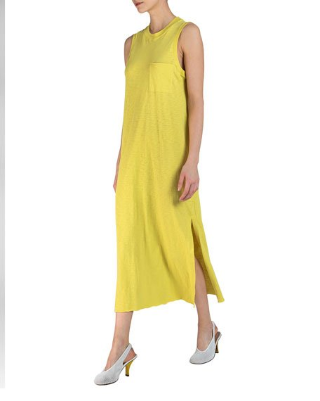 Sleeveless Maxi Dress with Pocket