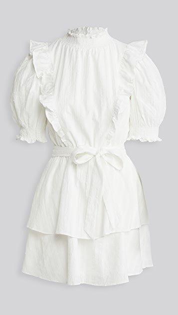 Textured Puff Mini Dress