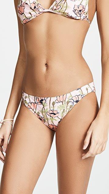 Printed Low Rise Hipster Bikini Bottoms