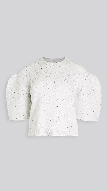 Sculpted Sleeve Crop Pullover
