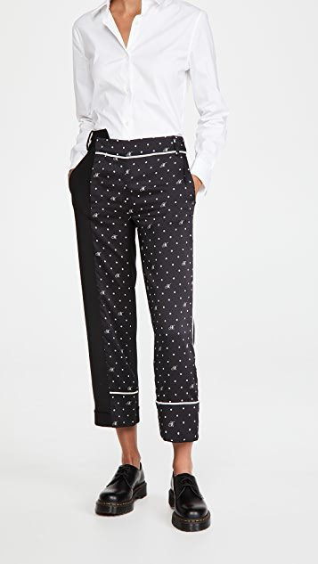 M Dot Contrast Trousers