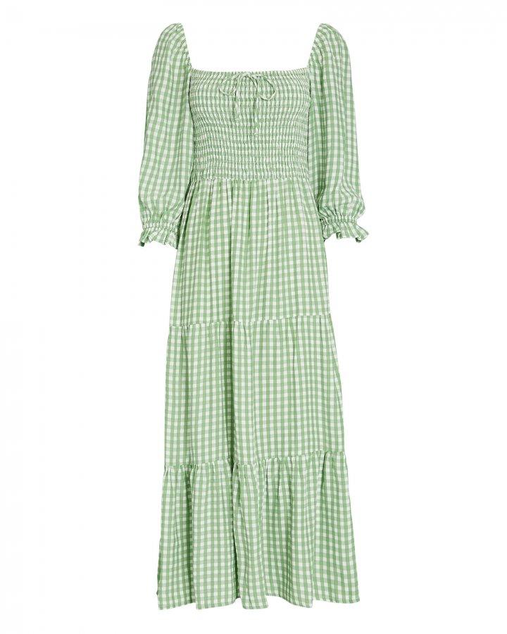 Le Galet Gingham Midi Dress