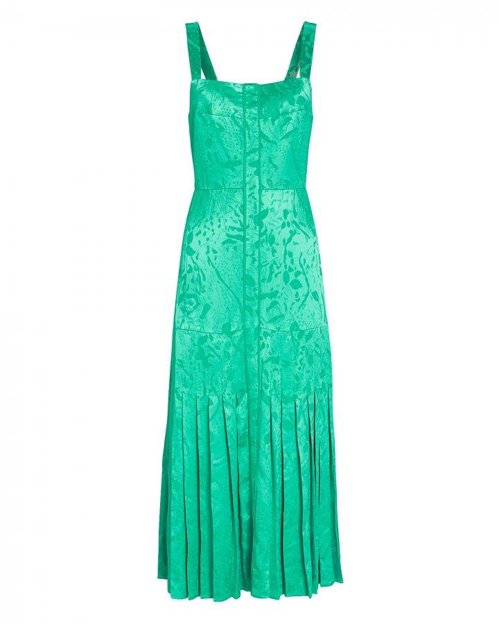 Oraina Sleeveless Jacquard Midi Dress