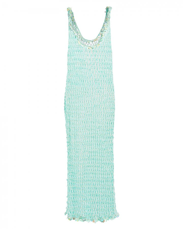 Orpul Beaded Crochet Maxi Dress