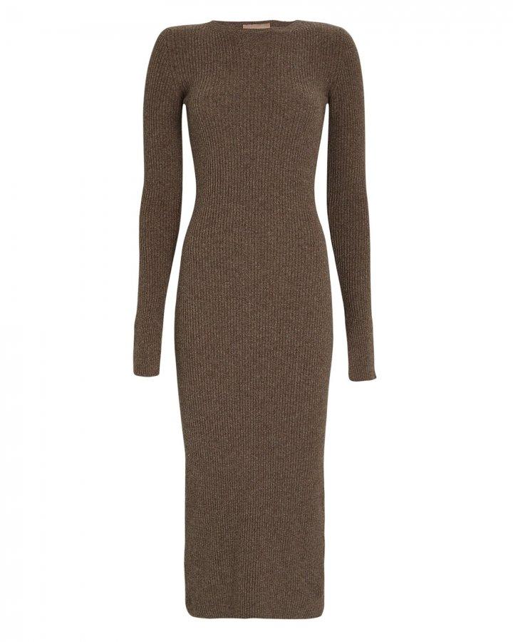 Etta Split Cuff Knit Midi Dress
