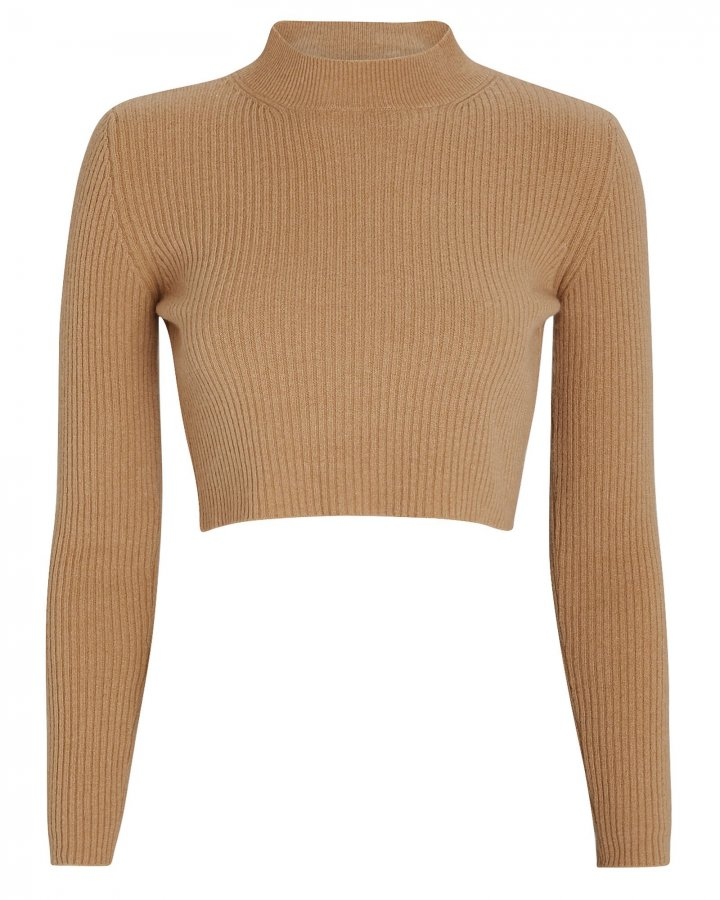 Enny Cropped Wool-Cashmere Sweater