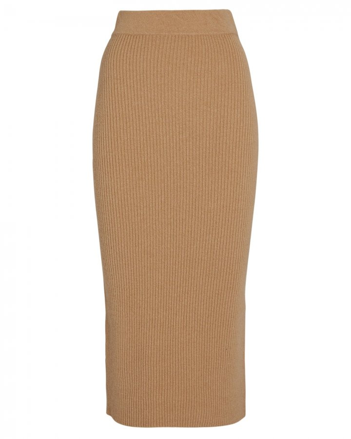 Eulalia Rib Knit Midi Skirt