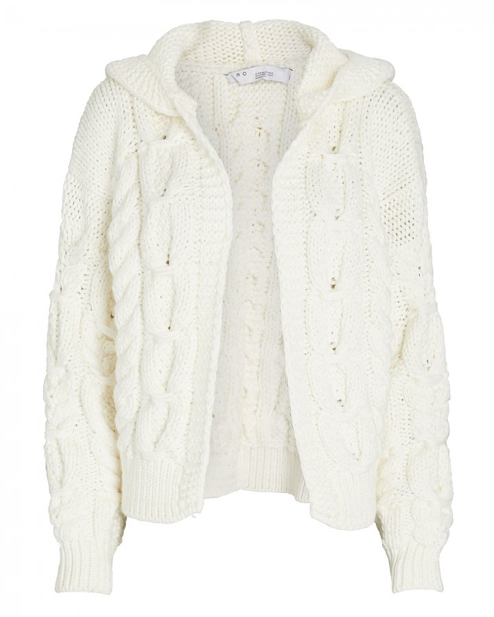 Sikan Hooded Cable Knit Cardigan