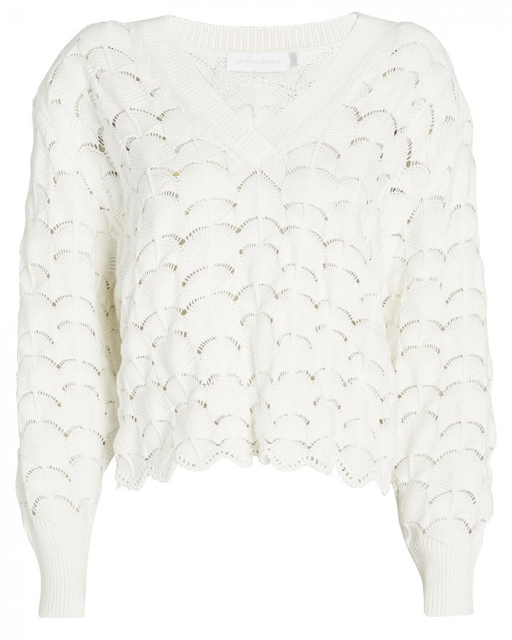Gracelyn Pointelle Cotton Sweater