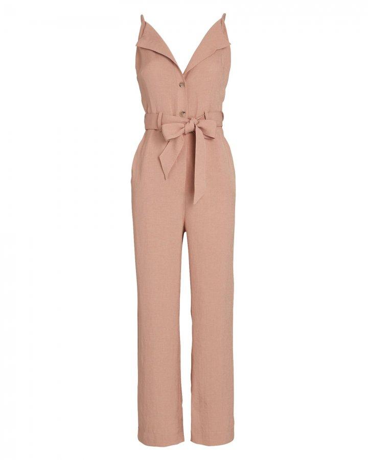Katana Belted Sleeveless Jumpsuit