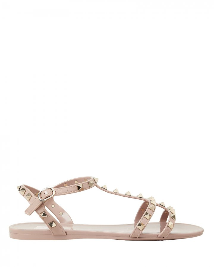 Rockstud Gladiator Flat Jelly Sandals