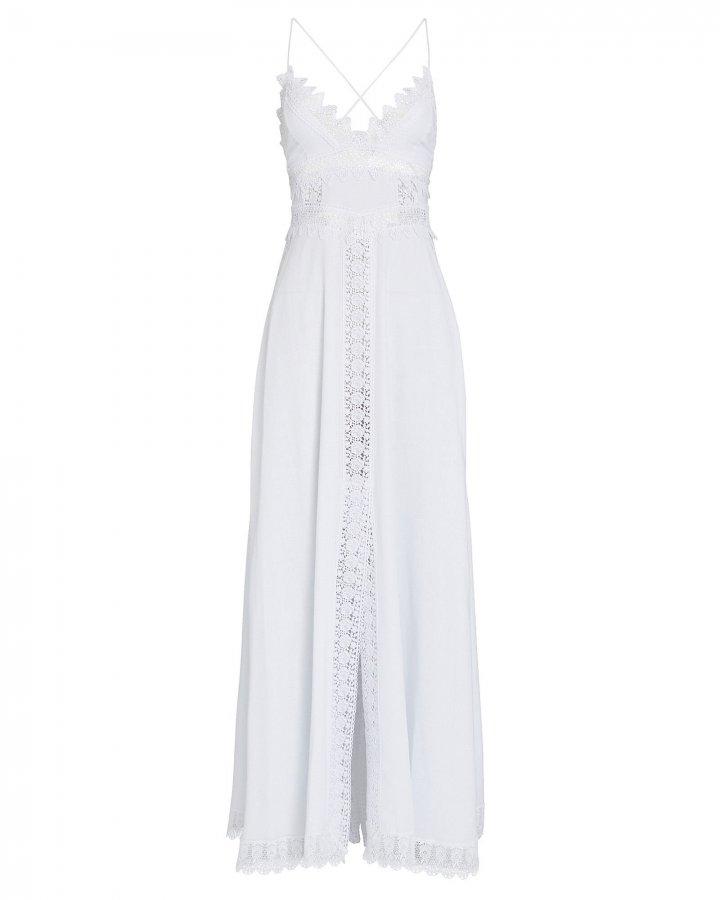 Imagen Lace-Trimmed Voile Dress