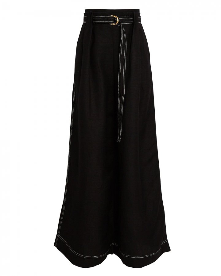 Psychedelia Pleated Wide-Leg Trousers