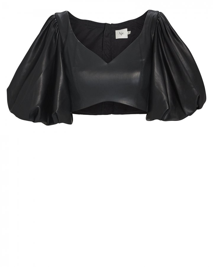Rebellion Faux Leather Crop Top