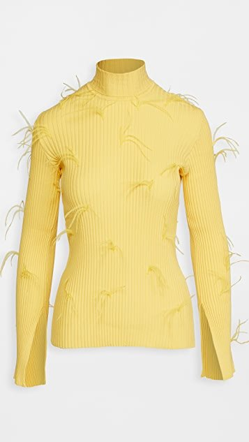 Turtleneck Sweater with Flared Sleeves