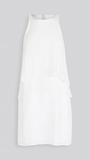 Solid Silk Layered Dress