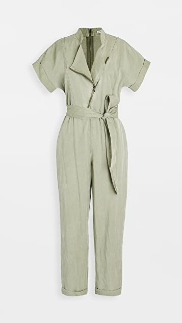 Leonarda Asymmetric Jumpsuit with Tie Belt