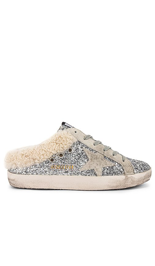 Sabot Glitter Shearling Slip On