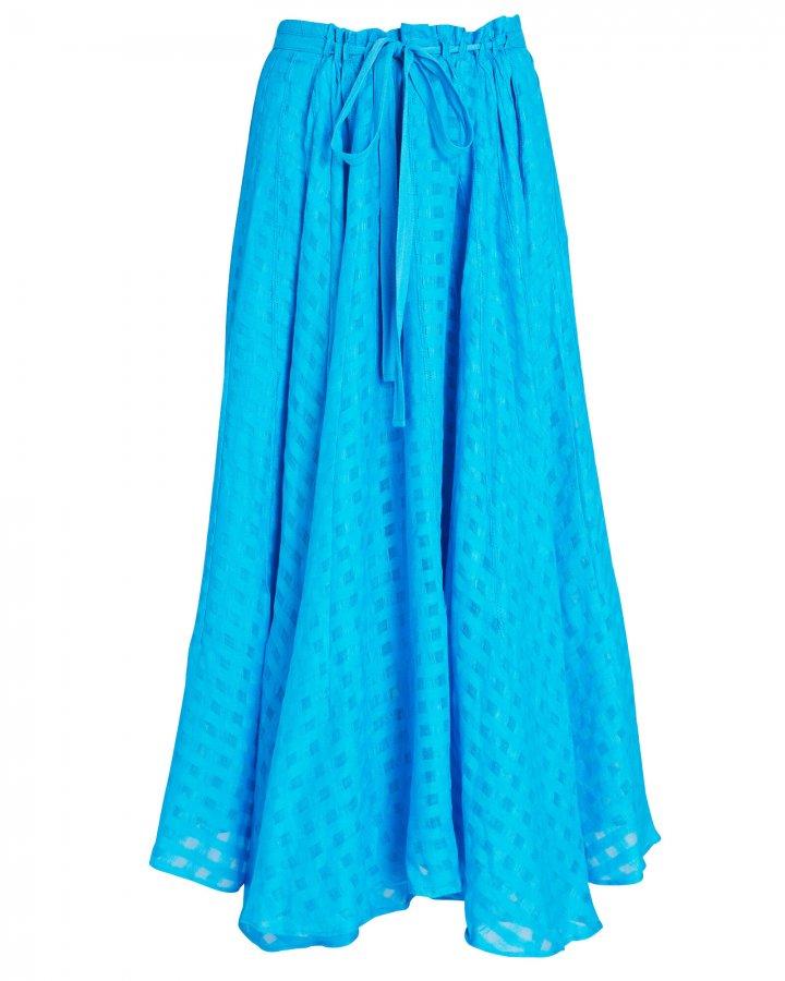 Sistra Linen Midi Skirt