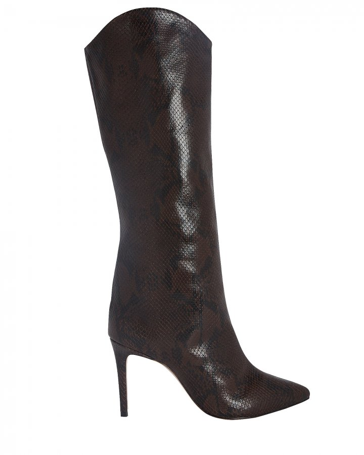 Maryana Snake-Embossed Boots