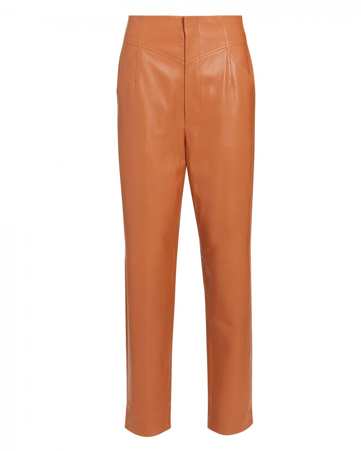 Gerri High-Rise Leather Pants