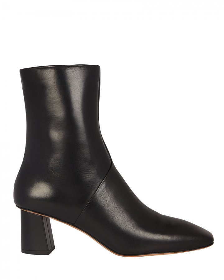 Tess Leather Square Toe Boots