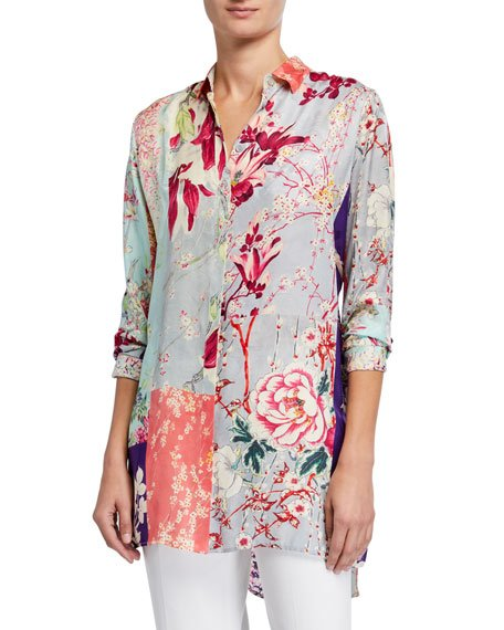 Orchid Patchwork Jersey Tunic