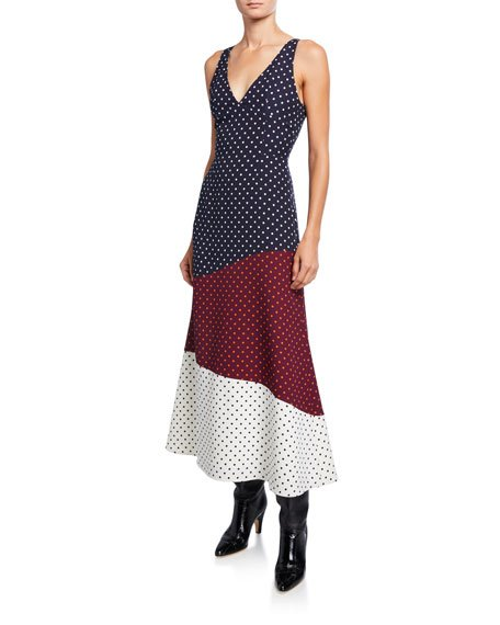 Elliot Dotted Patchwork Dress