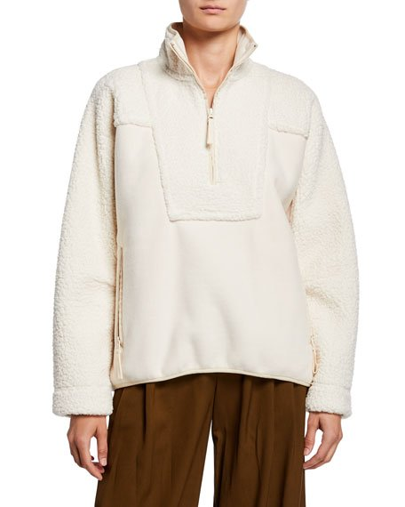 Textured Block Half-Zip Jacket