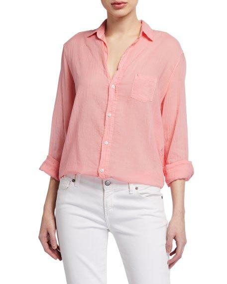 Eileen Long-Sleeve Solid Button-Down Shirt