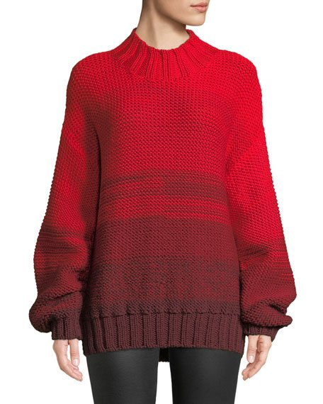 Reve Degrade Wool High-Neck Sweater