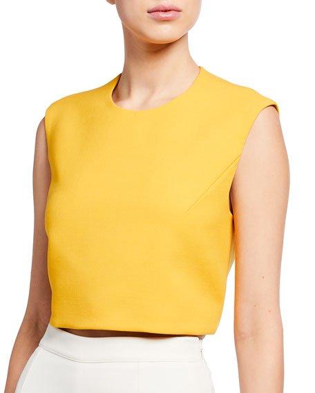 Open-Back Technical Wool Crop Top