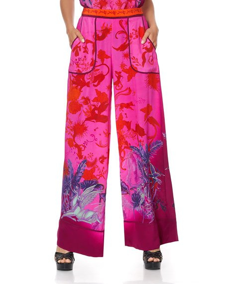 Print Lounge Trouser with Cuffs
