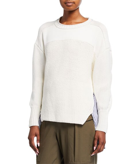 Patchwork Woven Combo Sweater