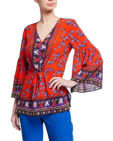 Mina Printed Silk Tunic