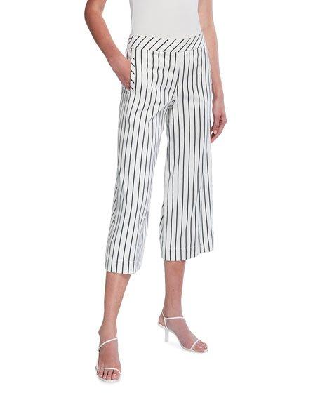 Riviera Striped Capri Pants
