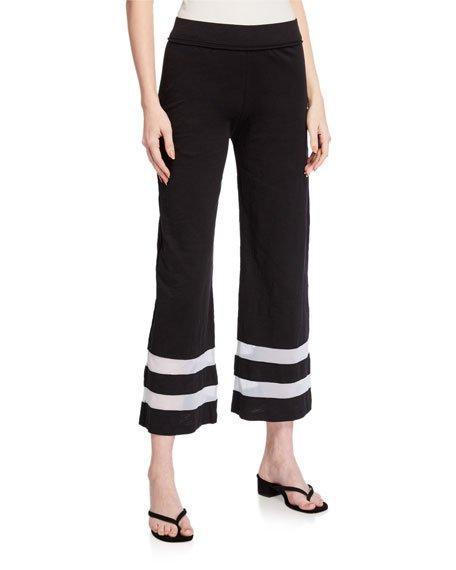 Meshin Around Wide-Leg Pants