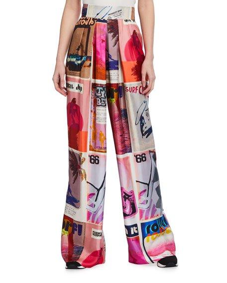 Wavelength Printed Slouchy Pants