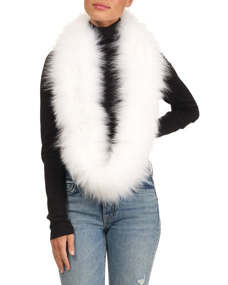 Shadow Fox Fur Infinity Scarf
