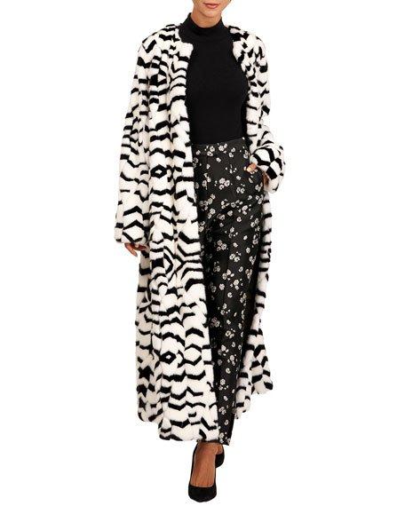 Mink Fur Intarsia Coat