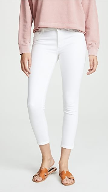Florence Cropped Mid Rise Skinny Jeans